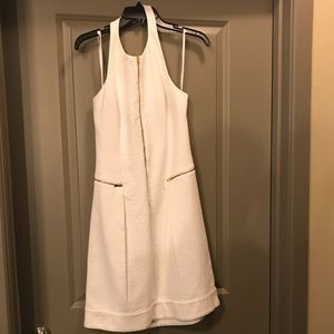 White dress with gold accents